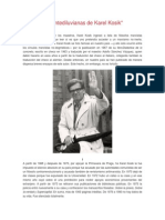 Reflexiones Antediluvianas de Karel Kosik. García Conde, G.