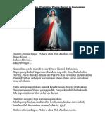Doa Rosario Koronka (Divine Mercy)