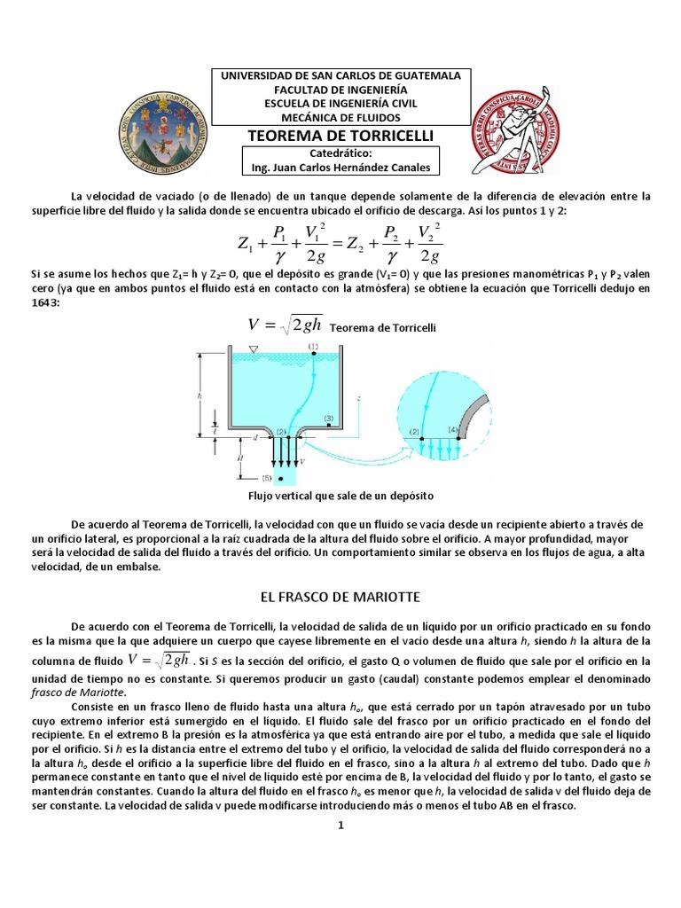 Teorema de torricelli pdf