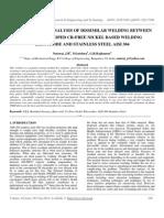 Finite Element Analysis of Dissimilar Welding Between