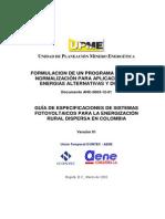 Guia de Especificaciones de Sistemas Fotovoltaicos Para La e