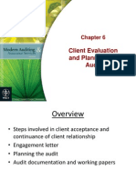 Client Evaluation and Planning the Audit