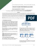 A Survey on Ontology Based Web Personalization