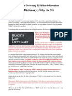 Blacks Law Dictionary 5th Edition Info