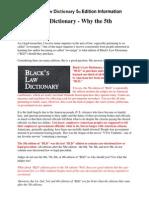 Blacks Law Dictionary 5th Edition Info