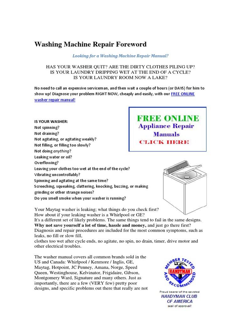 Washer Not Draining Or Spinning Washing Machine Repair Foreworddocx Washing Machine Valve