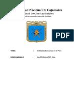 Entidades Bancarias en El Peru