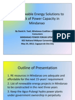 Energy Solutions for Mindanao