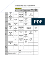 Time Table 2nd Year