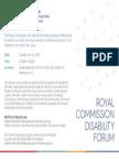 Melbourne Forum Invitation
