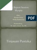 Case Report Session Gangguan Refraksi (Myopia)