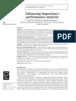 Enhancing Importanceperformance Analysis