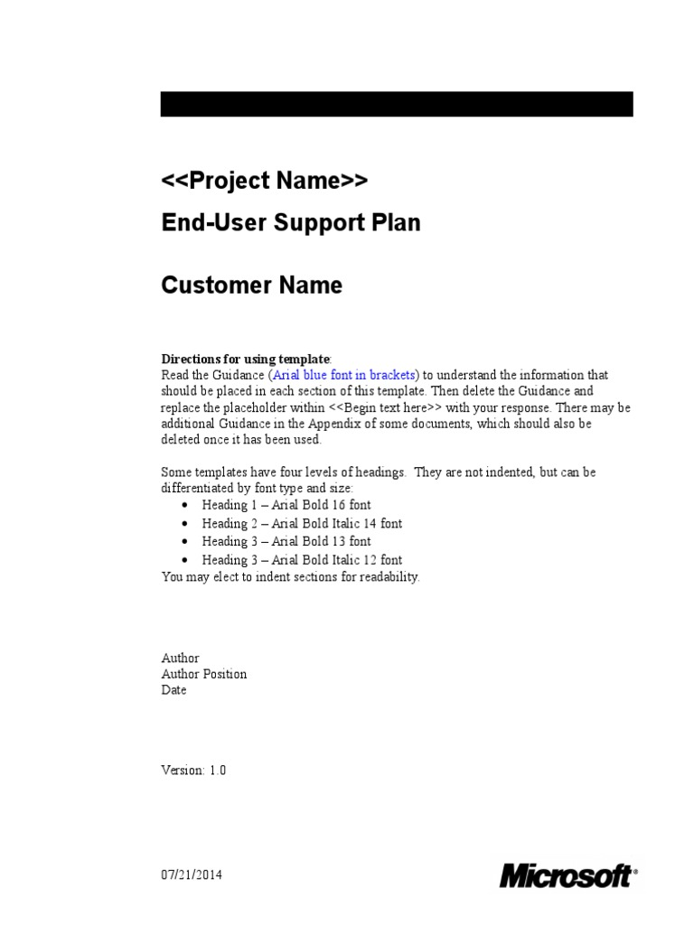 End-User Support Plan | Technical Communication | Accessibility