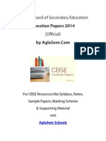CBSE 2014 Question Paper for Class 12 English Elevtive - Outside Delhi