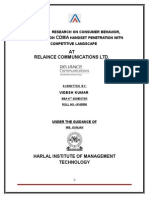 Reliance Communication - Marketing Research
