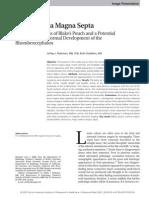 The Cisterna Magna Septa