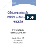 FDA Perspective---QbD Considerations for Analytical Methods
