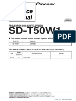 Pioneer Sd t50w1 Service Manual
