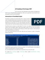 PowerShell Scripting in Exchange 2007