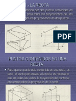 1.- LA RECTA Geometria Descriptiva