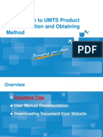 Introduction of UMTS Product Documentation