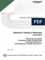 Ultrasonic Testing of Material Level 2 IAEA