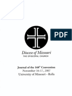 Journal of the 168th Convention of the Diocese of Missouri