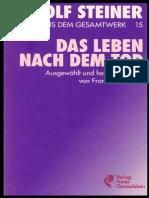 Das Leben Nach Dem Tod Rudolf Steiner Ttb 15