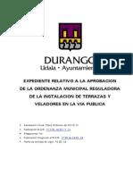 Ordenanza Terrazas Durango