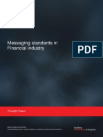 Messaging Standards in Financial Service Industry
