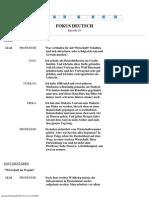 Fokus Deutsch - Episode 29