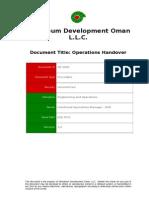 PR-1000 - Operations Handover Procedure