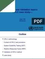 WHO Method Validation