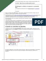 Excel Do Seu Jeito » Vincular Uma Caixa de Listagem a Célula e Recuperar o Conteúdo Selecionado Na Planilha » Print