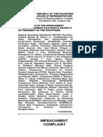 Impeachment Complaint vs. Pres. Benigno Aquino III (PhilNews.Ph)