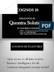 Cognos10 PPT by Quontra Solutions- Frame Work Manager