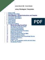Vocabulary Strategies Templates