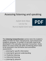Assessing Listening and Speaking