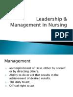Leadership & Management in Nursing