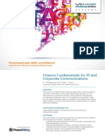 Finance Fundamentals for IR and Corporate Communications 15-16 Sep'14