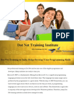 Dot Net Training Institute Delhi India