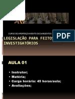 Legislação PM Para Feitos Investigatórios