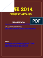 June 2014 Current Affairs