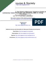 Textura Del Discurso y Teoría de La Conectividad