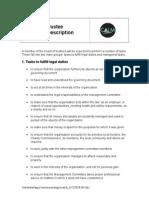 Role Description for Trustees