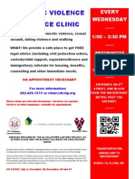 New DV Clinic and Support Group Flyer Final