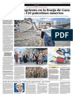 El Día Más Sangriento en La Franja de Gaza Deja Al Menos 130 Palestinos Muertos