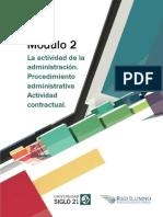 M2 - L2 - La Actividad de La Administración. Procedimiento Administrativa Actividad Contractual