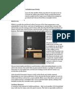 2014 Design Trends in Bathrooms Derby