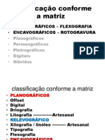 classificação conforme a matriz